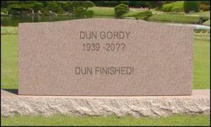 Dun's tombstone